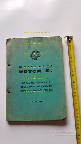 Motom Z 48 Motozappa 1963 catalogo ricambi epoca