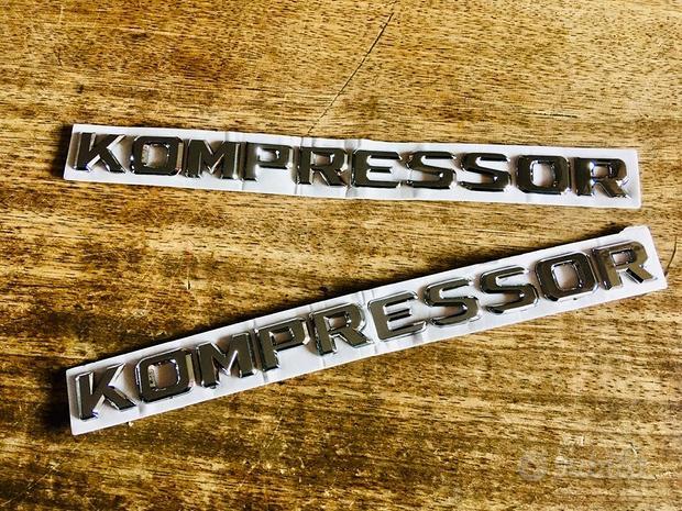 Scritte adesive Kompressor in rilievo nuove