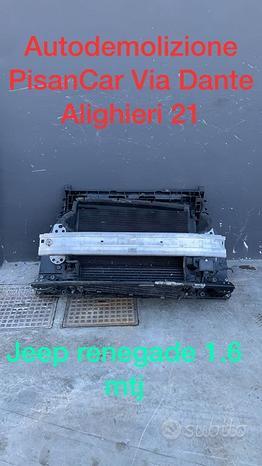 Radiatori calandra e rinforzo jeep renegade 1.6