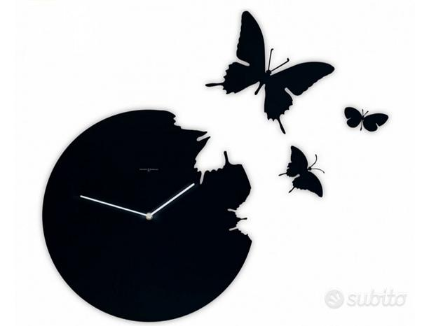 Orologio parete farfalle