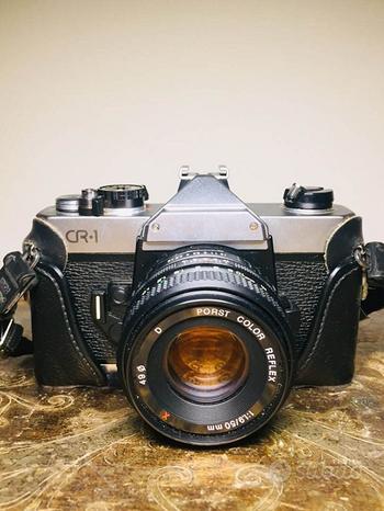 Macchina fotografica CR 1 con obiettivo Porst