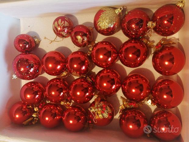 24 palline palle albero di Natale rosso
