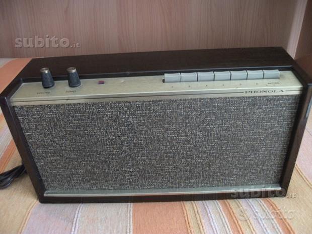 3 radio vintage e Filodiffusore phonola