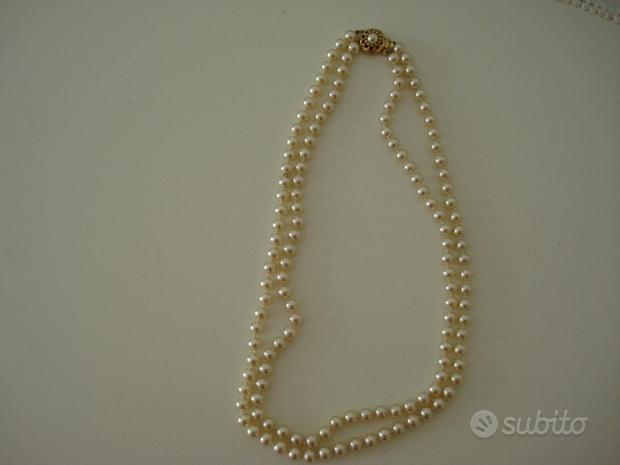 Collana doppio filo perle Maiorca mai indossata