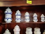 Vasi Farmacia in ceramica 5 pezzi da cm 16 a 32