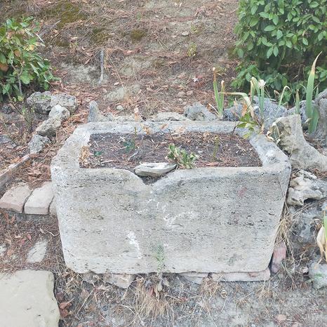 Abbeveratoio antico in pietra