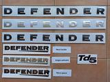 Scritte originali rilievo LAND ROVER DEFENDER TD5