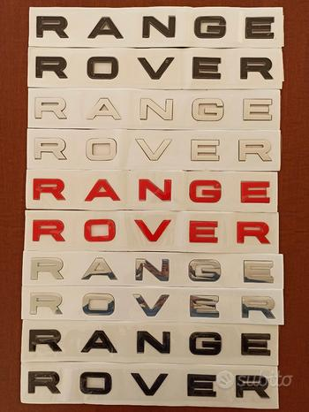 Scritte originali x Land RANGE ROVER Evoque Sport