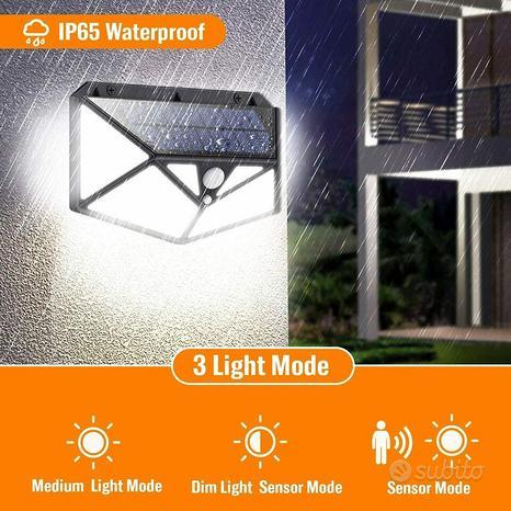 Illuminazione 150 led Lampada solare Sensore di Mo