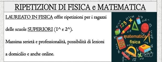 Ripetizioni di Fisica e Matematica