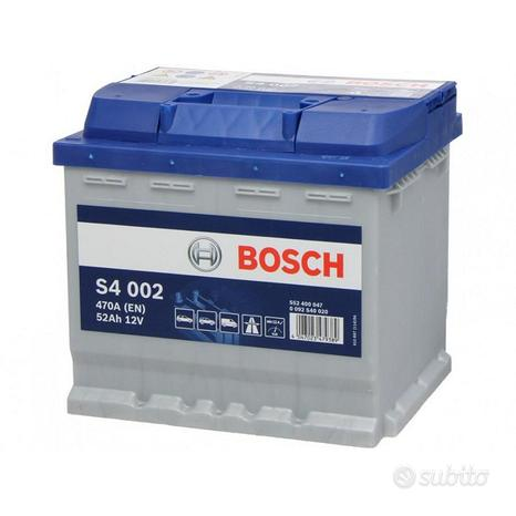 Batteria auto originale bosch s4002 52ah 470a 12v