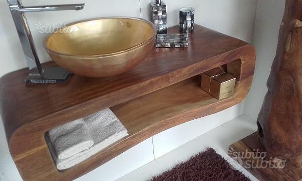 Arredobagno 103 massello suar lavabo oro o pietra