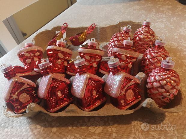14 decorazioni palline, per albero di Natale rosso