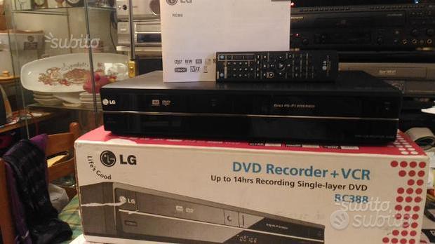 Lg rc 388 dvd recorder/vhs combo *nuovo +imballo