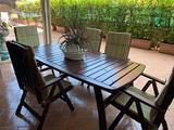 Tavolo in legno da giardino