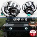"HUMMER H1 H2 Fari Anteriori FULL LED 7"" B.Ghiaccio"