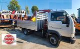Camion con gru 9 metri nissan cabstar