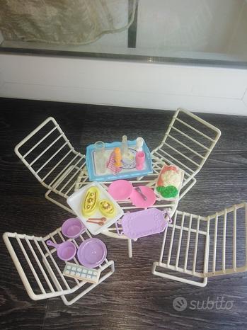 Mobili da giardino casa Barbie Vintage e accessori