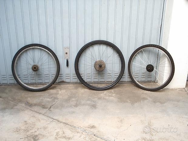 Ruote posteriori mountain bike complete
