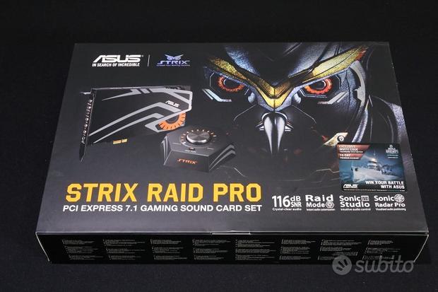 ASUS PCI-Ex Gaming Strix PRO Scheda Audio a 7.1
