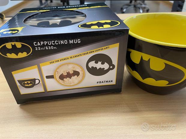 Tazza cappuccino BATMAN con stencil incluso