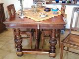 Tavolo antico allungabile + 6 sedie