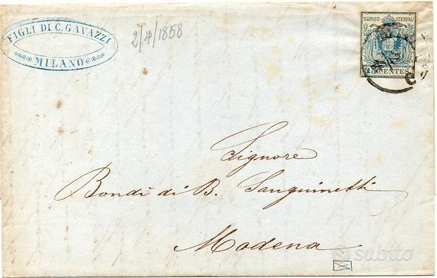 Storia Postale Lombardo Veneto 1850 (2)