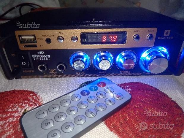 Amplificatore stereo bluetooth con karaoke 50 watt