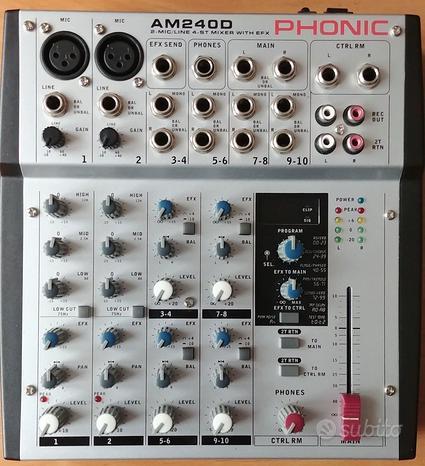 Phonic am240d mixer