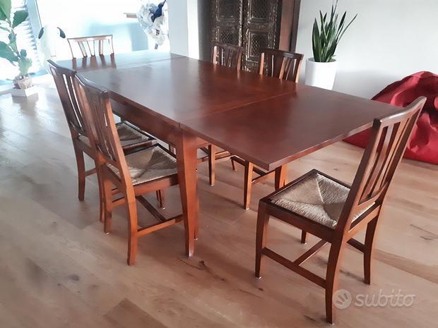 Tavolo pranzo con 6 sedie