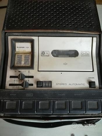 Registratore a cassette grundig 1976 da sistemare