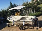 Barca 4,5 MT , carrello e motore