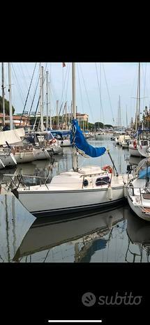 Barca a vela 7 metri con posto barca pagato