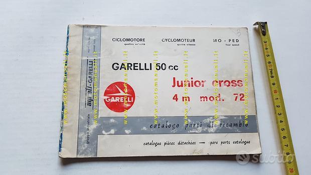 GARELLI 50 Junior Cross 1972 catalogo ricambi