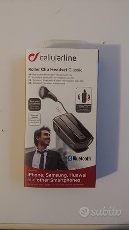 Auricolare Bluetooth Cellularline Roller Clip