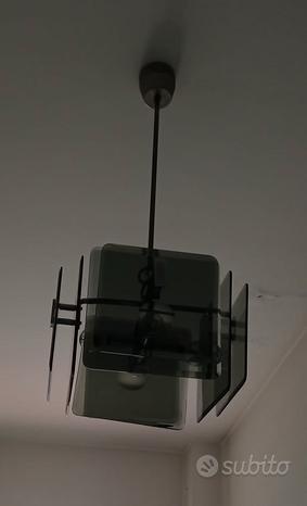 Lampadario in vetro VINTAGE anni 70