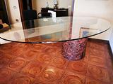 Tavolo in cristallo di design anni 70