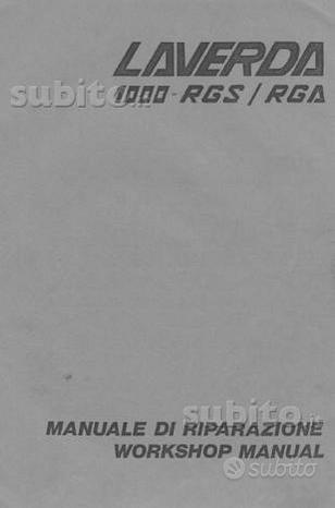 Manuali officina e esplosi x Laverda d'epoca