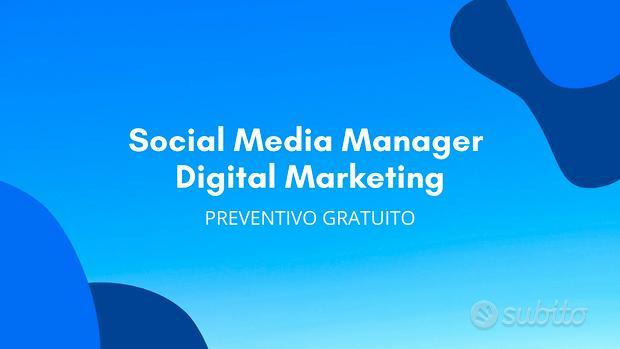 Social Media Manager - Digital Marketing