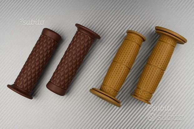 Coppia di manopole in gomma marrone - design café