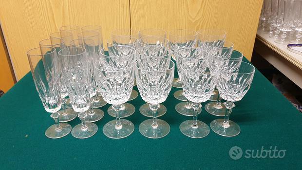 Calici di cristallo Bohemia set tavola 24 pezzi
