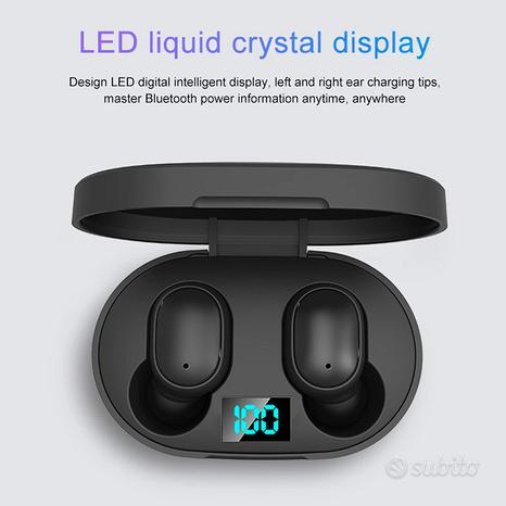 2021 nuovo auricolare Bluetooth E6s Display digita