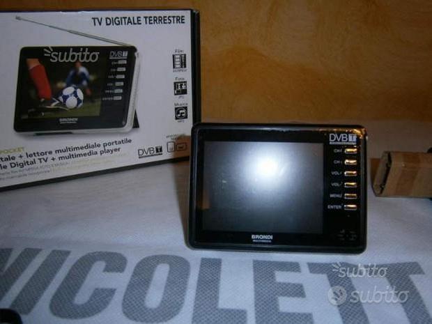 Mini tv portatile digitale terrestre e lett.video
