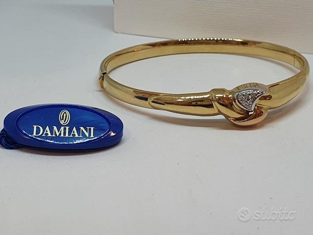 Bracciale rigido Damiani con Pavè di Diamanti