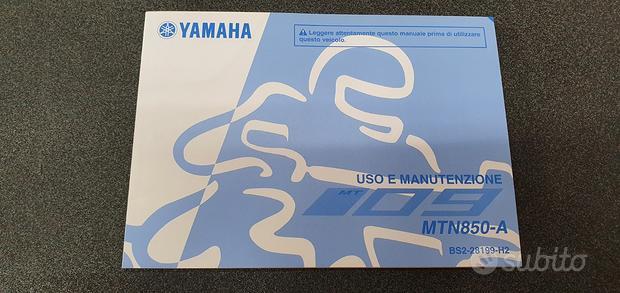 Uso e manutenzione manuale yamaha per mt-09