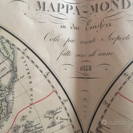 Antica carta geografica
