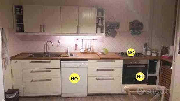 Cucina bianco panna già smontata