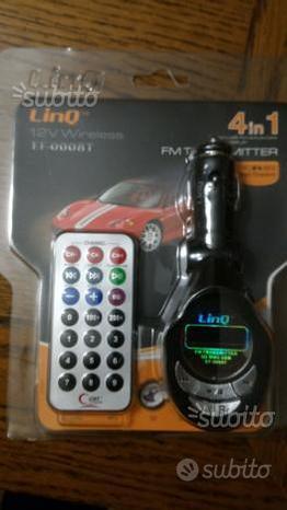 Trasmettitore senza fili per autoradio in fm