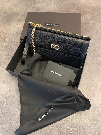 Pochette D&G originale, nuova. In pelle nera