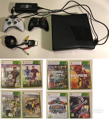 Xbox 360 slim, consolle 250 gb, 2 controller